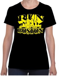 Run Boston Black running t-shirt